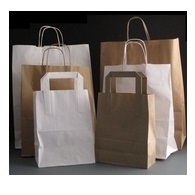 Paper Bags Brown and White
