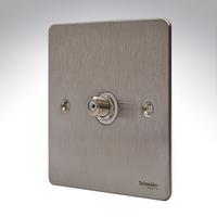 Flat Plate Stainless Steel SATELLITE Socket WHITE LV0701.0578