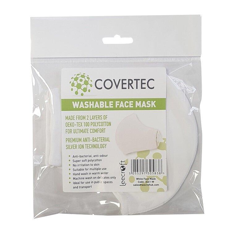 Leecroft Covertec Washable Face Mask White