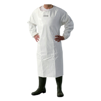 Waterproof Apron With Sleeves - Pvc With Polyester Reverse