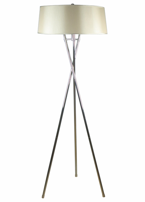 Tripod floor standing lamp gold shade order today macquillans floor standing lamp gold aloadofball Images