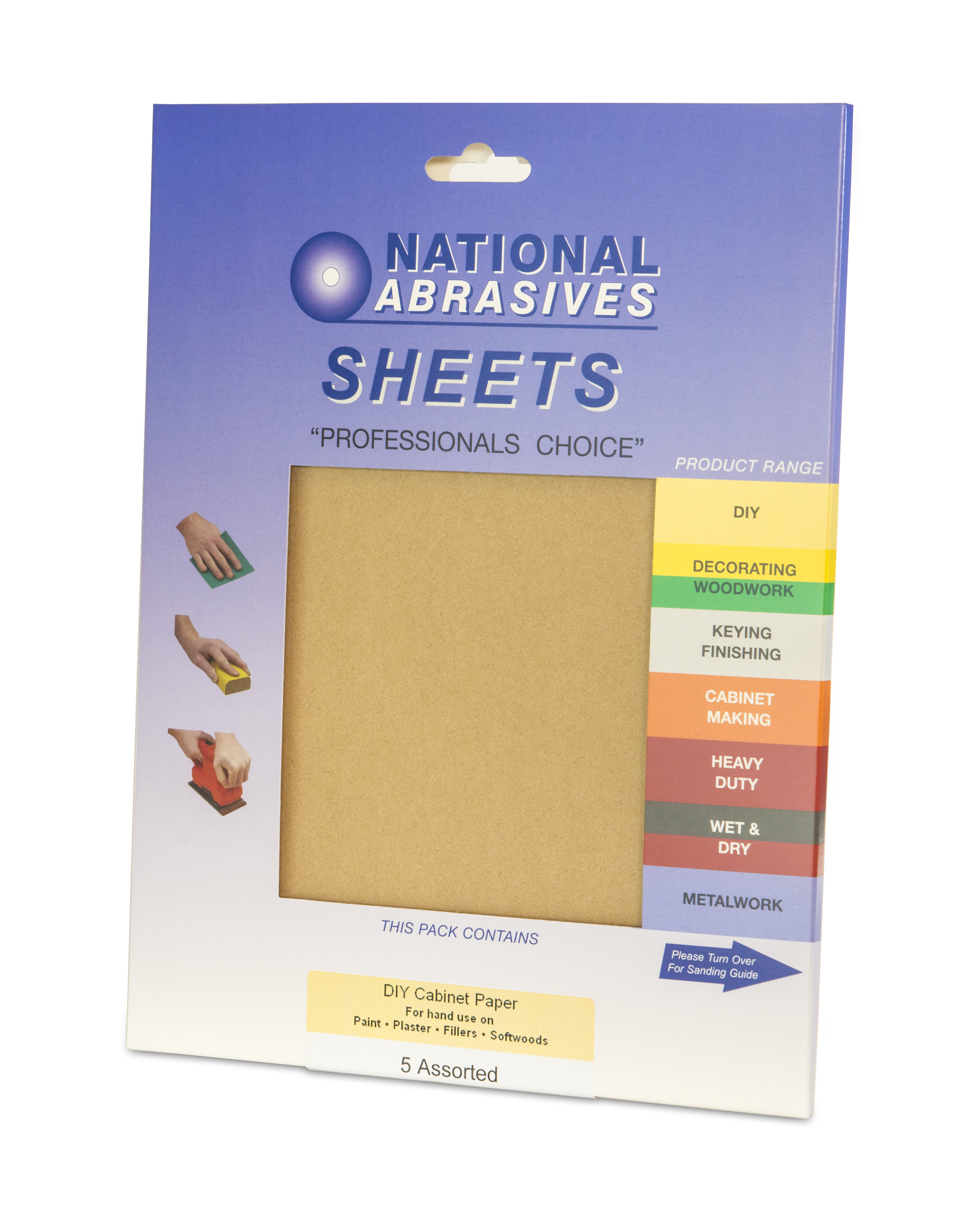 CABINET PAPER 5 PK ASSORTED