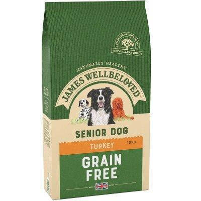 James Wellbeloved Grain Free Turkey & Vegetable Senior Dog Food 10kg