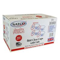 Round Plastic Pots & Lids - Satco (1000x4oz)