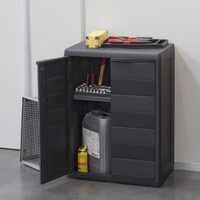 Elegance Outdoor Cabinet Black (W65 X D38 X H87 Cm)