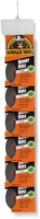 3044402 25MM X 9M HANDY ROLL BLK GORILLA TAPE CLIP STRIP X 8