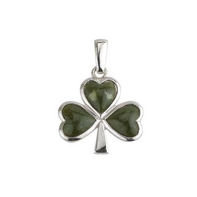 sterling silver shamrock connemara marble set pendant s4332 from Solvar
