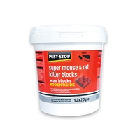 Pest-Stop Super Rat & Mouse Killer Wax Blocks 20g 15Pk x 1