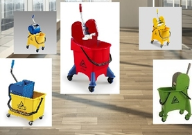 mop buckets with wringers