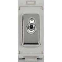Schneider Ultimate Screwless Grid Mirror Steel 2way Toggle White|LV0701.1065