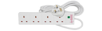 2.0m 4 GANG UK EXT LEAD WITH SURGE PROTECTION