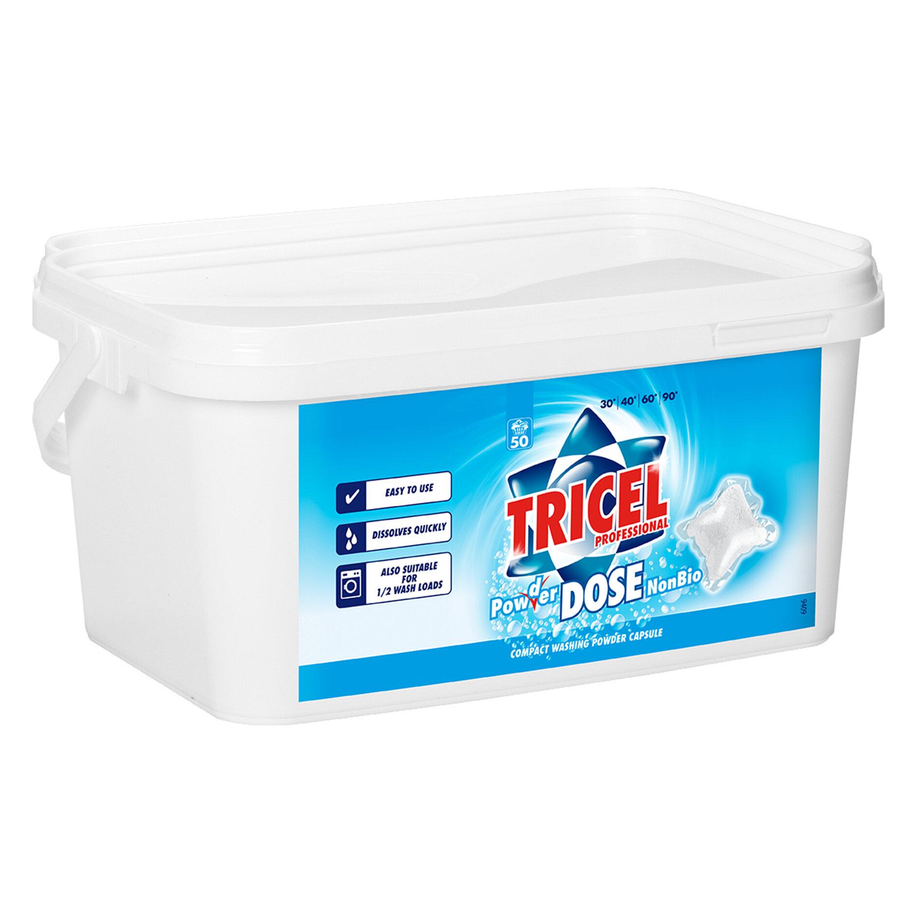 TRICEL NON BIO LAUNDRY CAPSULES TUB OF 100