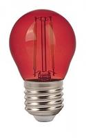 2W G45 LED Red Colour Filament Bulb E27