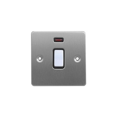 Flat Plate 1G 32A DP Switch WITH NEON BSS | LV0701.0110