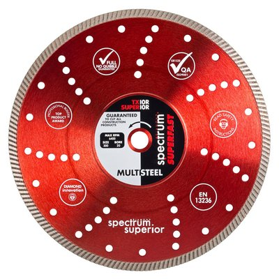 """RED VENTED Superior Blade 230mm (9"""")"""