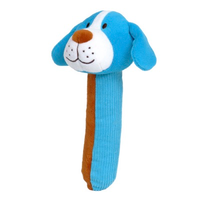 Blue dog Squeakaboo toy for babies