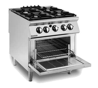 Mareno 4 Burner Gas Oven Range 800x730x900mm 32kw
