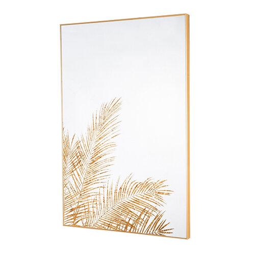 Mirror Art Fern Silhouette - Gold