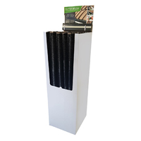 Leecroft Gutterbrush 100mm Diameter x 1200mm Long Hooked Ends - Display of 36