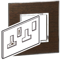 Arteor (British Standard) Plate (Twin Socket 13a 2g) Wenge | LV0501.0949