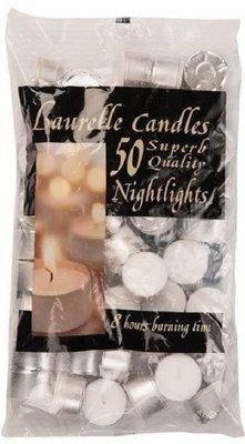 LAURELLE 8 HOUR BURNING NIGHTLIGHT CANDLES PACK 50