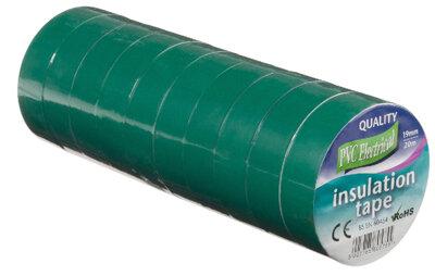 Vires Elec PVC Tape Green 19mm x 20M