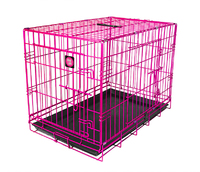 "Dog Life Dog Crate - Small 24"" x 17"" x 20"" Pink"
