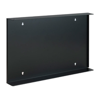 Euromet 03260 | WALL FIXING plate for rack , Black, 6U