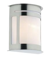 Alumni Wall Light with Lantern IP44, Stainless Steel    LV1802.0152