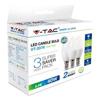 LED E14 Bulb 5.W 3 Pack