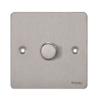 Flat Plate Stainless Steel DIMMER  1g 2way| LV0701.0101