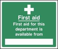 First Aid Sign FAID0011-0558