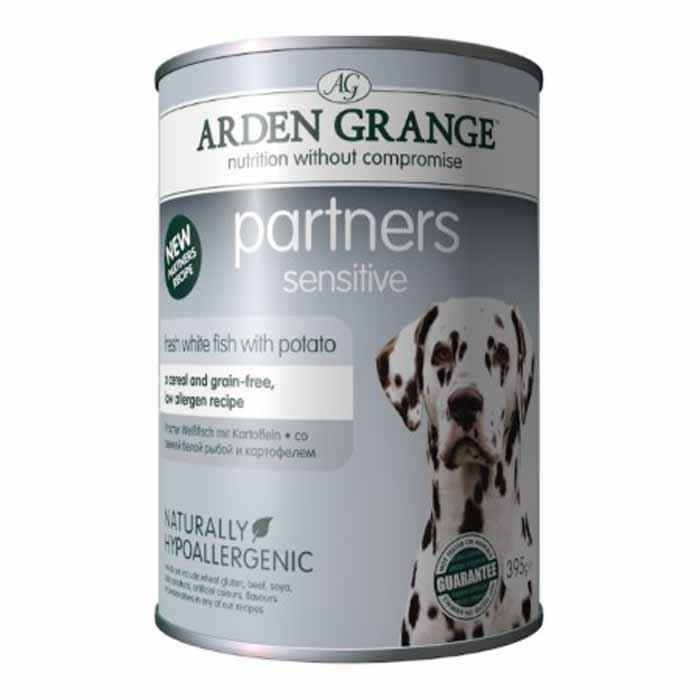 Arden Grange Partners Sensitive – grain free – fresh ocean white fish with potato 24 x 395g