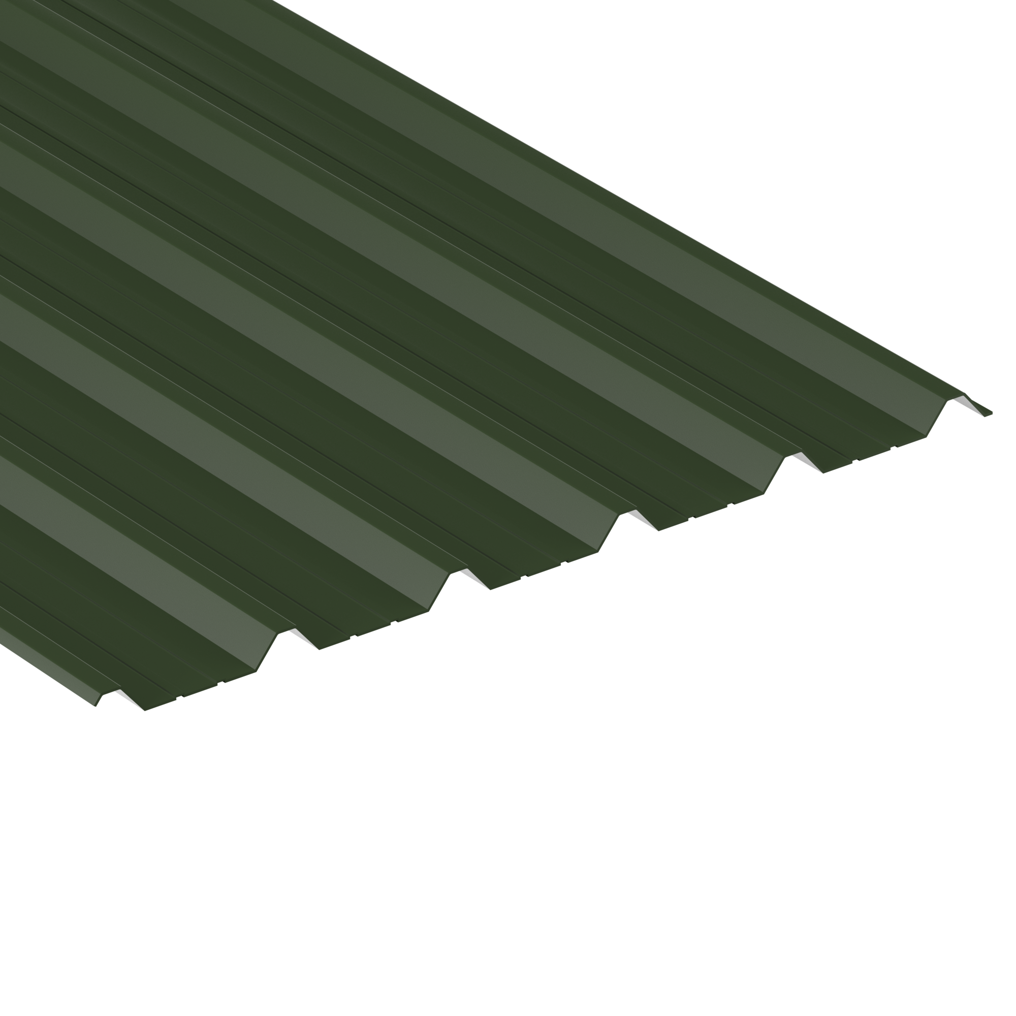 Juniper Green painted finish box profile
