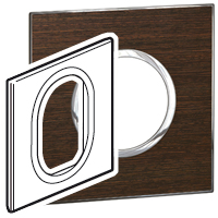 Arteor (British Standard) Plate 3 Module 1 Gang Round Wenge | LV0501.2697