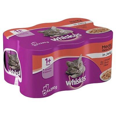 Whiskas Tins Jelly 4 x 6 x 390g