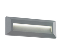 Rectangular  led bricklight Severus landscape indirect IP65 2W warm white grey finish