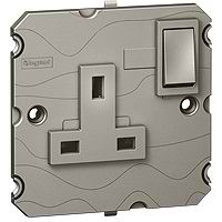 Arteor 1gang 13a Double Pole Socket - Magnesium | LV0501.2516