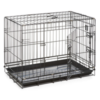 "Dog Life Dog Crate Medium 30"" x 19"" x 22"" Black x 1"