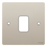 ULTIMATE FLAT COVER PLATE 1G PEARL NICKEL|LV0701.0984
