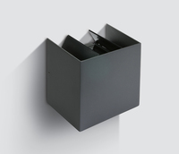 Cube Anthracite Wall Light 2x3W LED Warm White IP54  | LV1202.0369