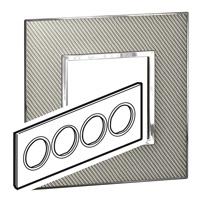 Arteor (British Standard) Plate 8 Module Round Woven Metal | LV0501.2792