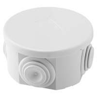 Gewiss IP44 Round Adaptable Box D80x40