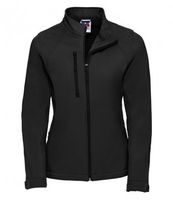 J140F Ladies Black Elite Softshell Jacket