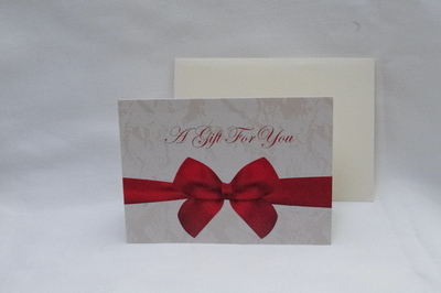 PTD A GIFT FOR YOU  VOUCHERS &  ENVELOPE