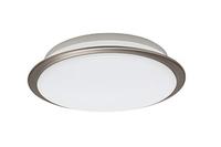 Opple 11W LED 2700K Eros Brushed Steel Ceiling Light | LV2108.0167