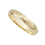 14K NARROW CLADDAGH WEDDING BAND (BOXED)