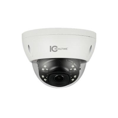 IC Realtime 6MP H.265E 2.8mm Fixed 30m IR IK10 Dome Camera with Audio/Alarm I/O