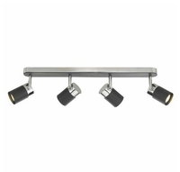 Ibsen 4 Light Spot Bar, Black and Polished Chrome | LV1802.0039