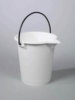 Lab Bucket Pp W/Metal Handle White